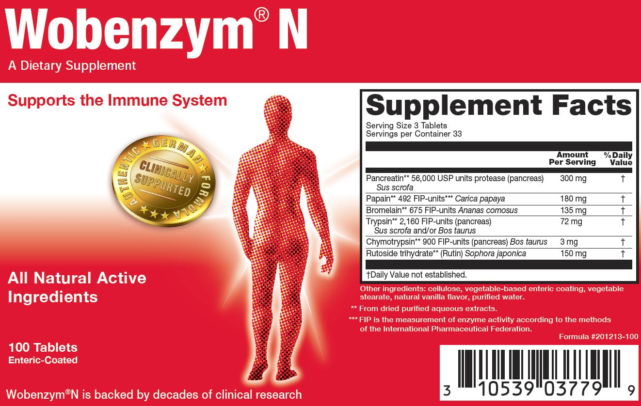 WOBENZYM N REVISED [201213-100X] : New England Nutritives
